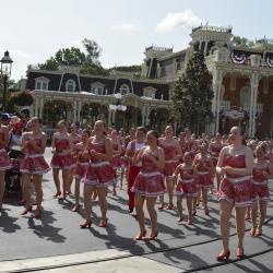 Dancing in Disney World Parade