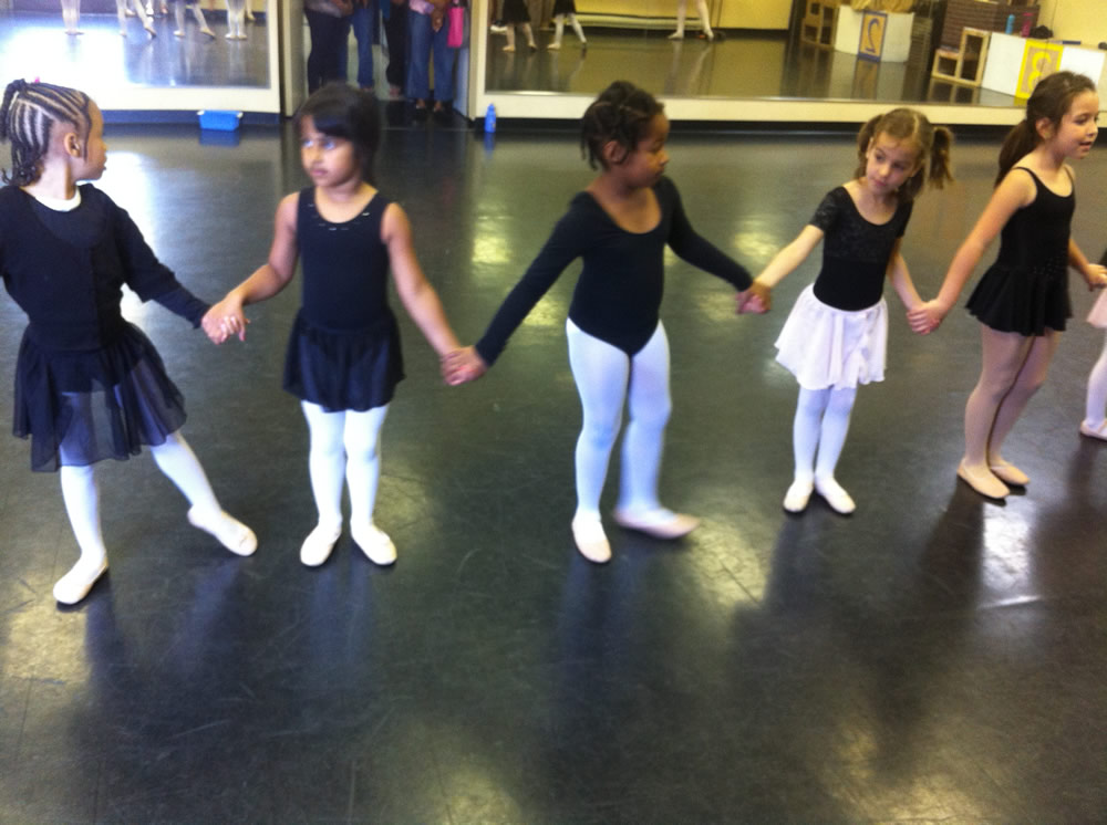 Young Girls in Ballet Class